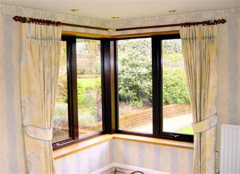 curtain rods for corner windows 1000 ideas about corner window curtains on