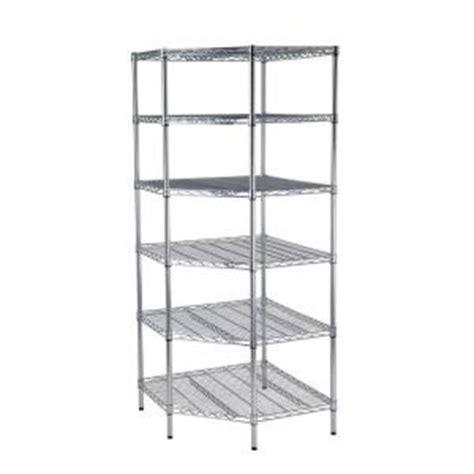 hdx 30 in w x 30 in d 6 shelf chrome commercial corner