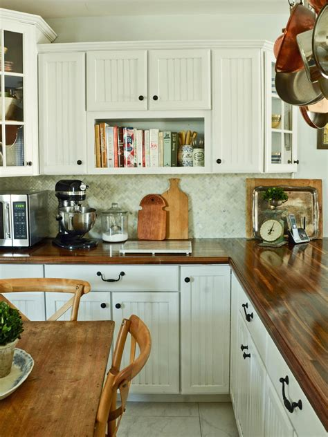 White Wood Countertops by Do It Yourself Butcher Block Kitchen Countertop Hgtv