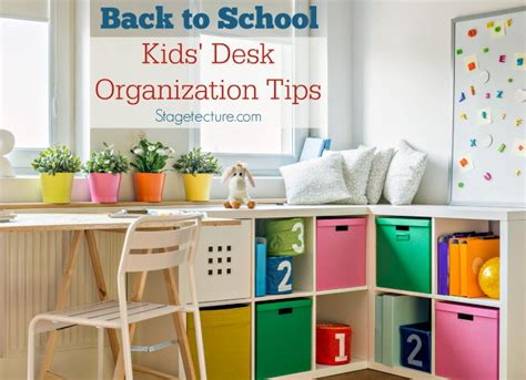 Back To School Kids Desk Organization Ideas School Desk Organization Ideas