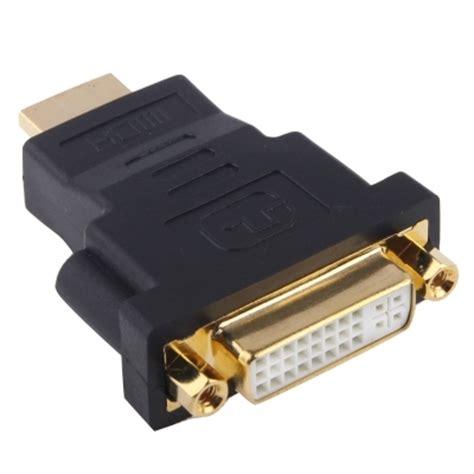 Adapter Konverter Hdmi Ke Hdmi 19 Pin Gold Plated gold plated hdmi 19 pin to dvi 24 5 pin adapter black alex nld