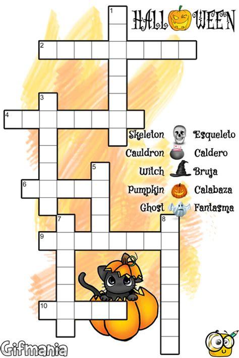 imagenes de halloween en español pasatiempo de palabras cruzadas de halloween ingl 233 s espa 241 ol