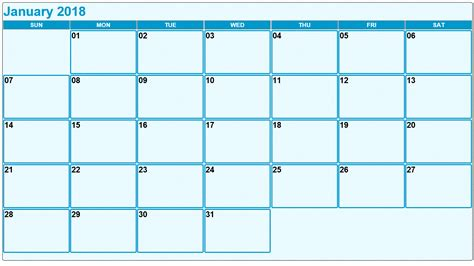 must have printable calendars for january tip junkie