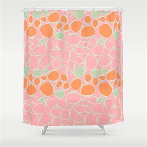 pink and orange shower curtain fiona pink orange shower curtain contemporary shower