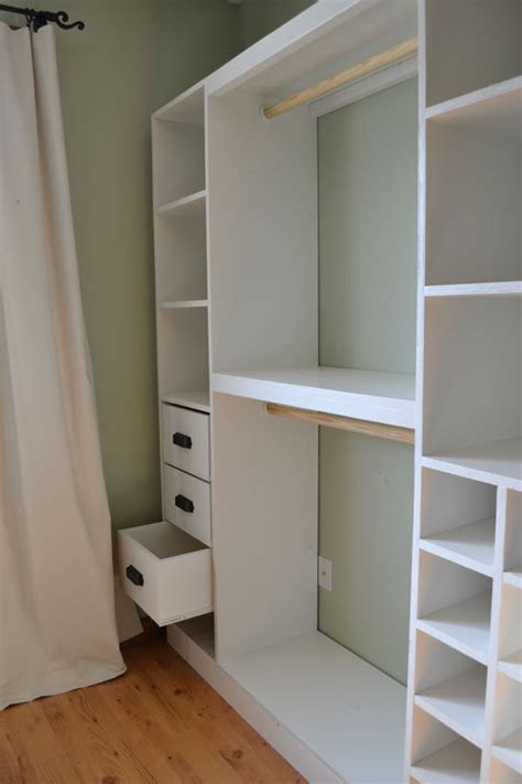 Built In Closet Diy diy how to build closet storage system plans free