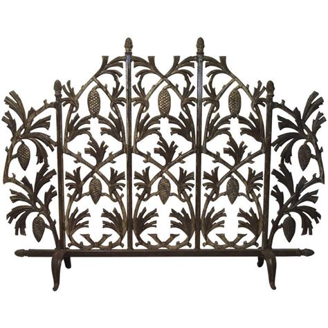 cast iron pine cone fireplace screen