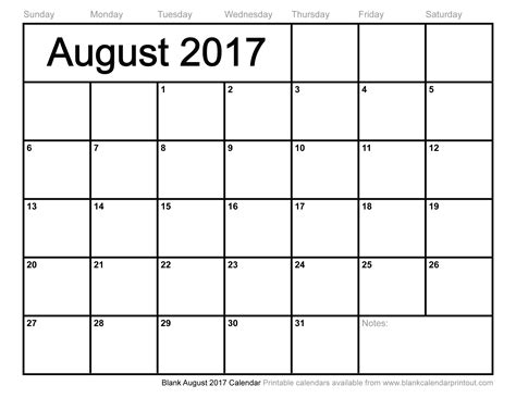 2014 To 2017 Calendar August 2017 Calendar With Us Holidays