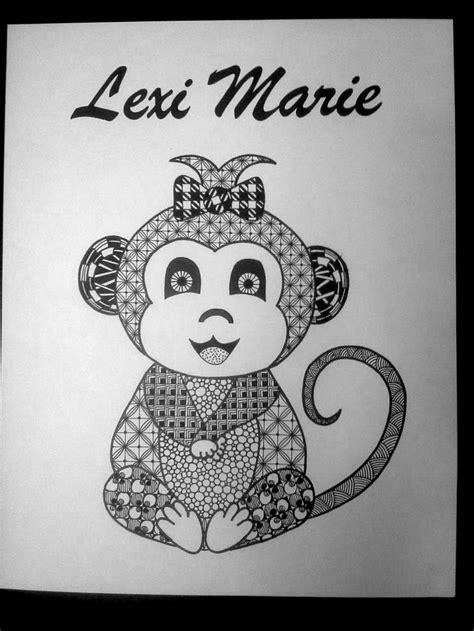 how to draw a doodle monkey monkey zentangle by tara ogdin tara s tangles my