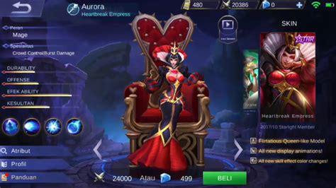 codashop mobile legend starlight new starlight member skin aurora kerennn mobile
