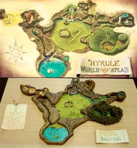 legend of zelda oot map dioramas don t get much cooler than these zelda and super