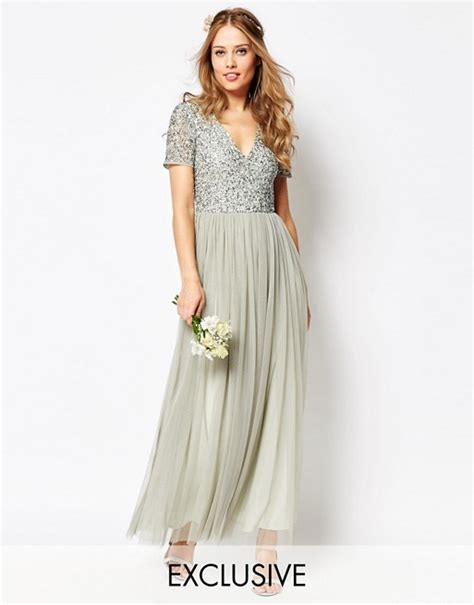 v neck maxi tulle dress with tonal delicate