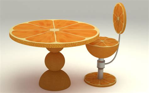 orange kitchen table orange kitchen table 3d cgtrader