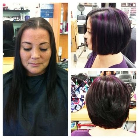 before and after pictures of hairstyles with fine thin hair before n after dina long fine hair to a cute layered bob