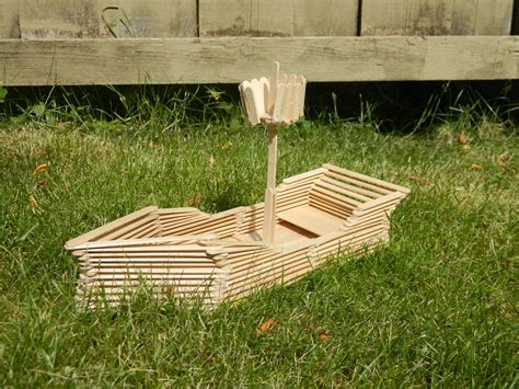how to build a boat made out of wood one of a kind artz the popsicle stick boat