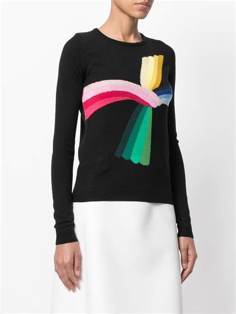 Wedges Wanita Cantik Dn 53 lyst n 176 21 rainbow intarsia jumper in black