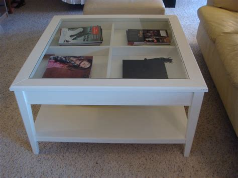 display table glass display coffee table white thelightlaughed