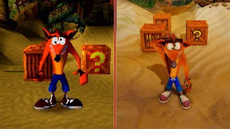 best crash bandicoot ps1 crash bandicoot graphics comparison ps1 vs ps4 pro
