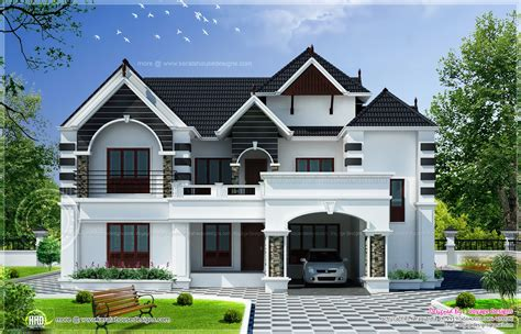home style 4 bedroom colonial style house kerala home design and