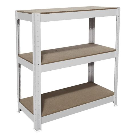 cobalt 3 shelf metal shelving unit white ebay