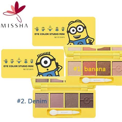 Missha Minion Mini Color Eye Studio box korea missha minions edition eye color studio mini 7 2g best price and fast