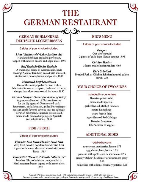 german cuisine menu traditional german food menu best food 2017