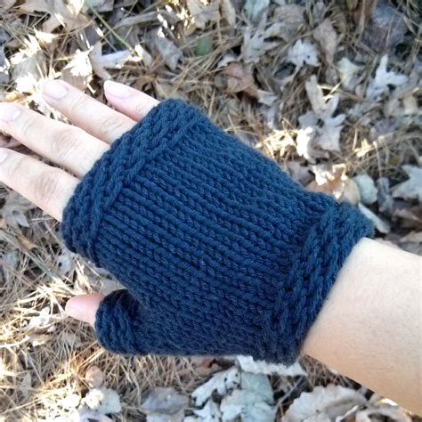 something easy to knit fingerless gloves patterns knit free easy images