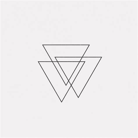 triple triangle tattoo minimalist ink use diff line weights tones