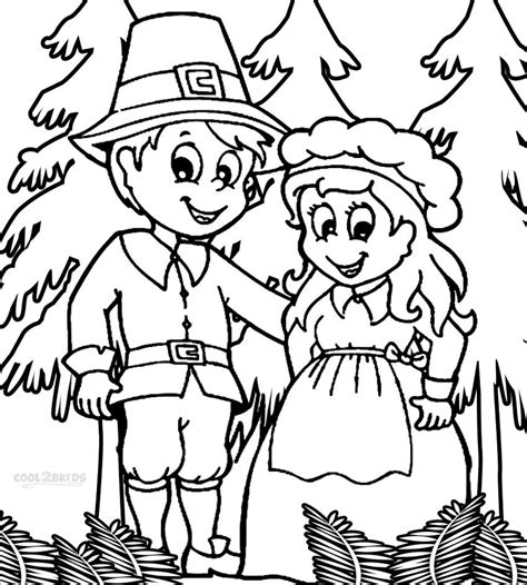 indian and pilgrim coloring pages coloring pages