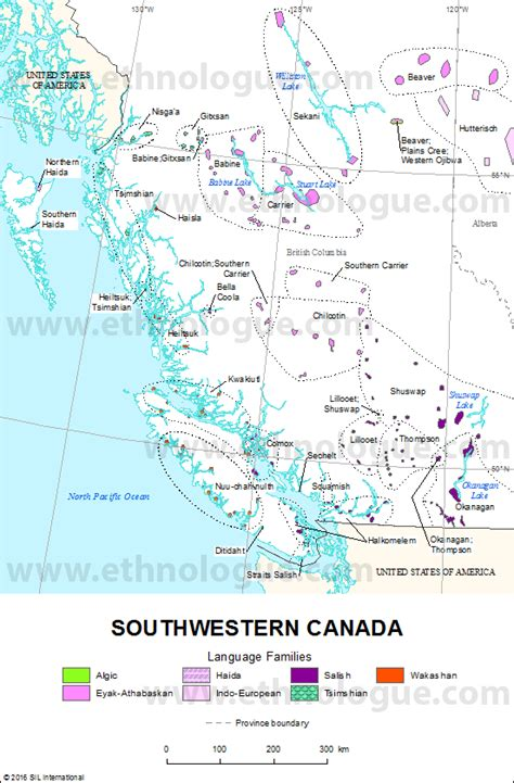 south west canada map southwestern canada ethnologue