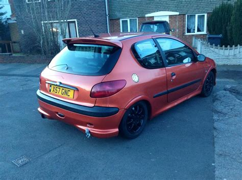 peugeot 206 sport peugeot 206 sport orange full sport lethers car cline