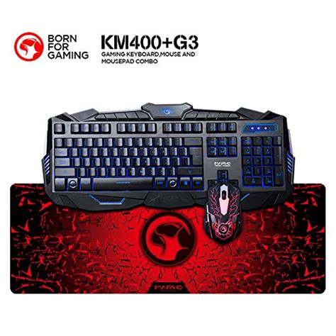Marvo K800 Gaming Keyboard marvo km400 gaming keyboard led mouse and large mouse pad combo 3 color backlit keyboards 7
