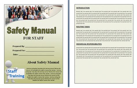Company Safety Manual Template free manual templates user manuals manuals