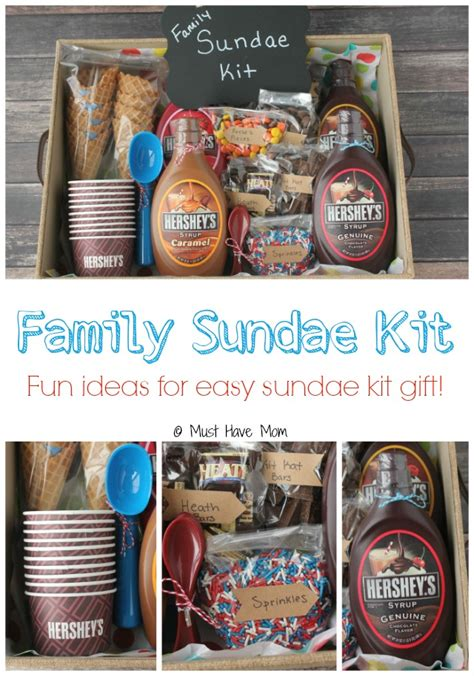gift set ideas diy family sundae kit gift idea gift basket ideas and