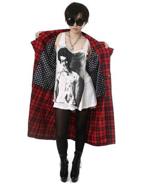 Rok Flanel Tartan rock unisex flannel check plaid tartan slouchy shirt