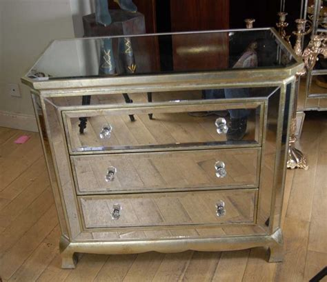 mirrored furniture deco mirrored italian chest drawers commode cabinet ebay