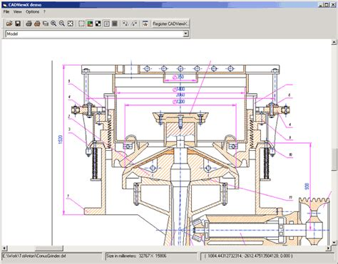 layout editor dxf 2d 3d cadviewx information free download screenshot