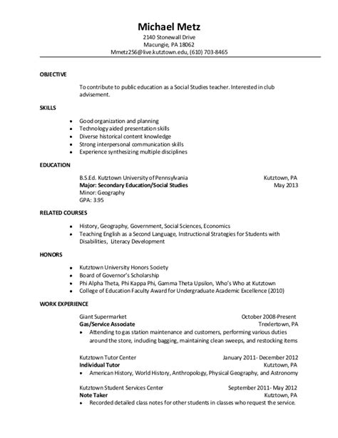 Mike Metz Resume