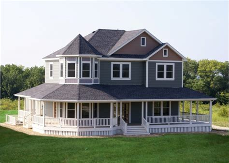 wrap around porch homes country exterior traditional exterior