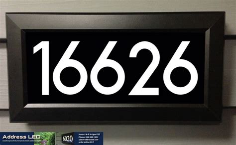 led lighted address signs address led illuminated house numbers house numbers