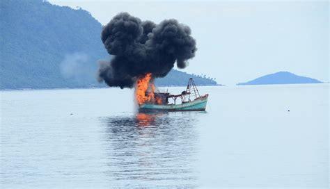Puntius Tertra Zone Ikan Sumatera polda sumut ledakkan kapal malaysia okezone news