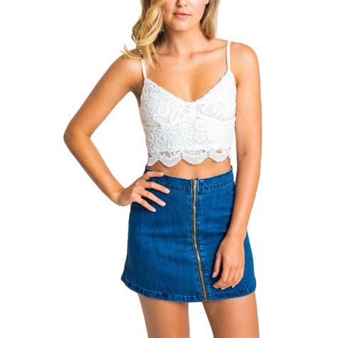 Hollow Top White Pink 2016 summer tops sale camis lace crochet crop top white black hollow out wear tank