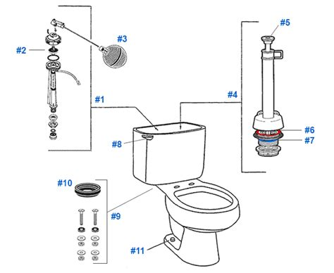 Mansfield Plumbing Products No 08 by Mansfield Elm Ridge Bar Harbor Toilet Replacement Parts