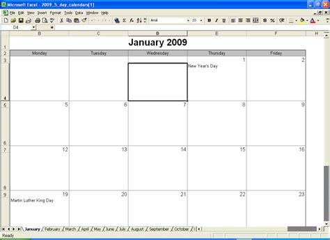 free 5 day calendar template 6 5 day calendar template ganttchart template