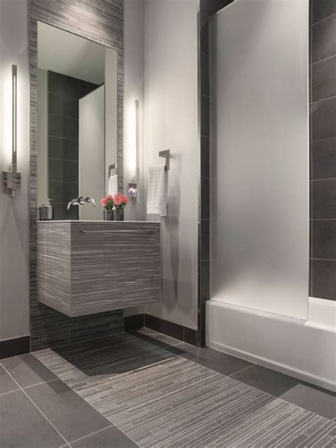 Modern Grey Bathroom Modern Gray Mosaic Tile Bathroom Contemporary Bathroom San Francisco By