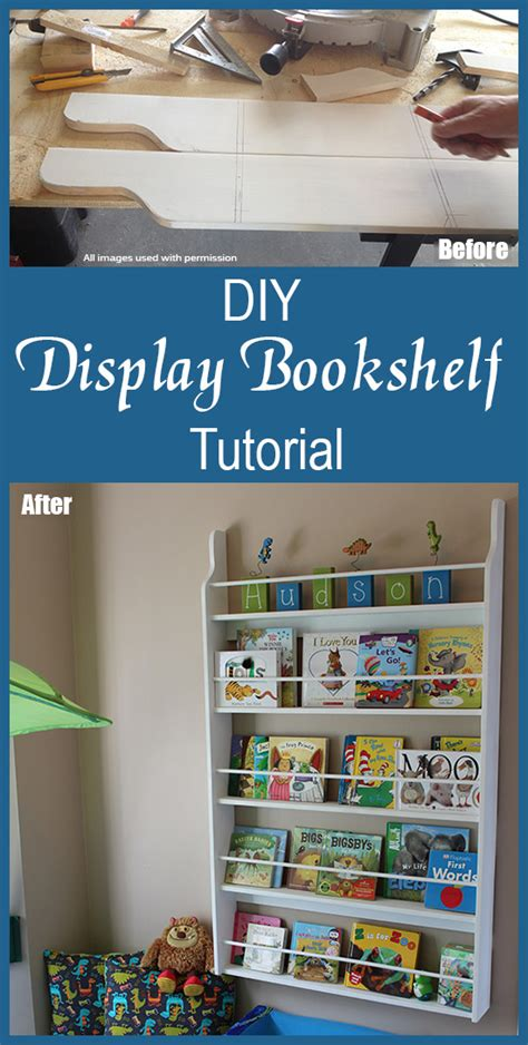 diy easy display bookcase project how to make a display