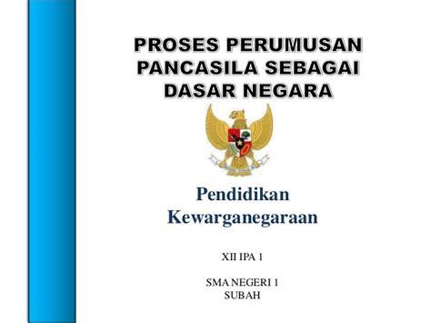 Dasar Dasar Pendidikan Pancasila Dan Kewarganegaraan Samsul Wahidin Proses Perumusan Pancasila Sbg Dasar Negara