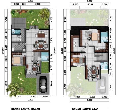 contoh desain  denah rumah minimalis type  gambar rumah idaman