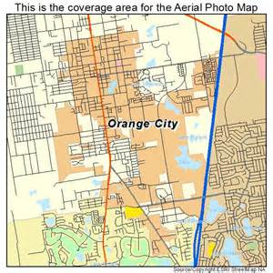 aerial photography map of orange city fl florida