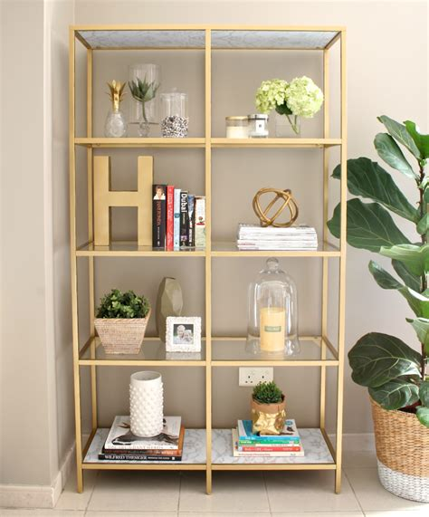 bookcase decor diy gold bookshelf house of hawkes