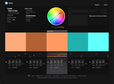 complementary colors generator pin color wheel complementary colors dibirciyan on pinterest